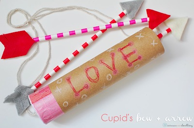 cupid's bow and arrow Valentine's Day craft