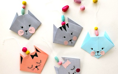 Easy Origami Kitty Cat Paper Craft For Kids