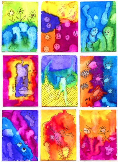 Watercolors And Lemon Juice Creative Art Things To Make And Do