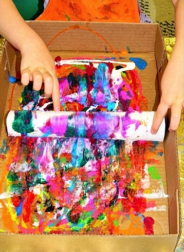 paper towel and paint printing