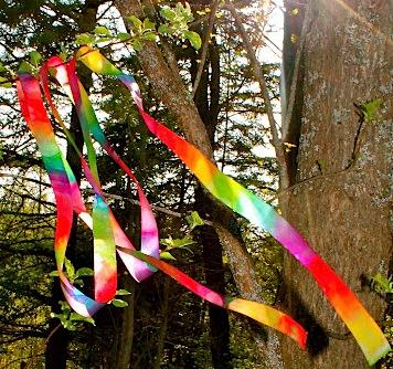 rainbow ribbon wands