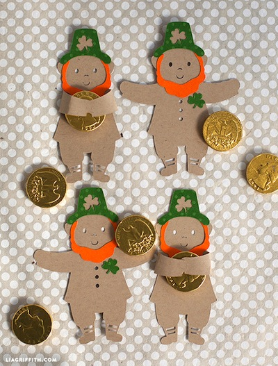 St Patrick's Day leprechaun candy hugger craft