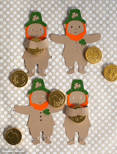 St Patrick's Day leprechaun candy hugger craft