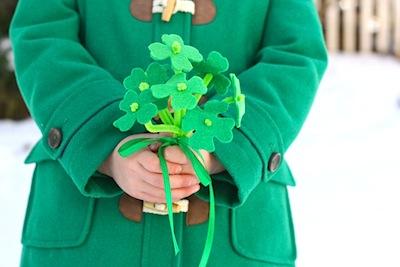 St. Patrick's day felt shamrock bouquet