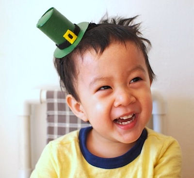 Pink Stripey Socks leprechaun hat headband diy