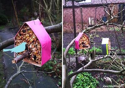house shaped wild bird feeder tutorial
