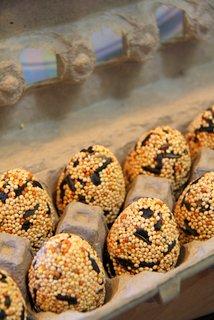 egg shaped wild bird seed feeders