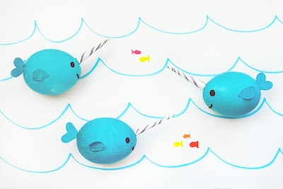 narwhal Easter egg decorating idea