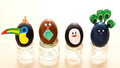 bird Easter egg decoration idea