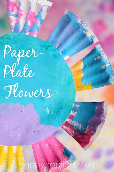 paper plate flowers toddler craft