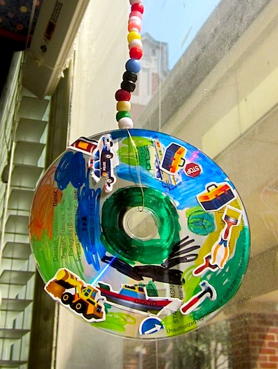 recycled CD mobiles craft