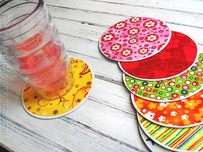 recycle CDs into coasters