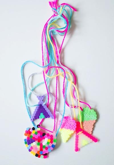 hama bead necklace craft
