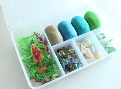 mermaid playdough kit for homemade kids gifts