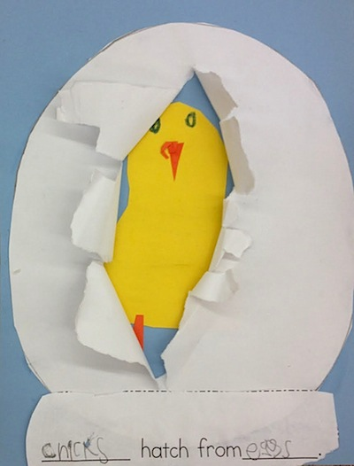 chick in an egg craft for kids
