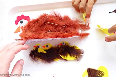 chicken and chicks craft farm craft for kids