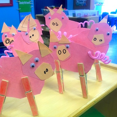 pig farm craft for kids