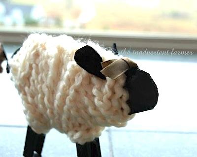 yarn sheep farm craft for kids