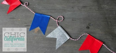 duck tape 4th of July bunting