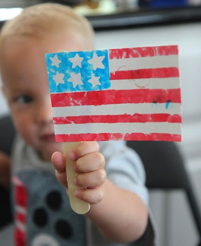 b98a33032437 Fourth of July flag craft for toddlers