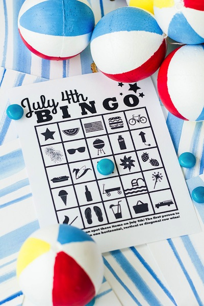 free printable Fourth of July bingo