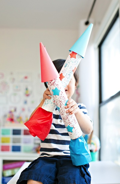 cardboard rocket ship craft for kids