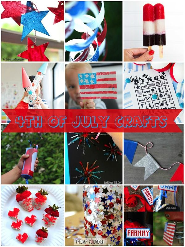 Christmas In July Craft Ideas Part - 26: The Crafty Crow July 4th Crafts For Kids