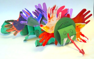 handprint dragon craft for kids