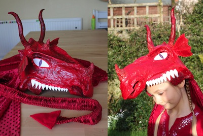 milk jug dragon mask