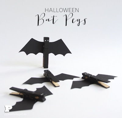 bat pins clothespin Halloween craft