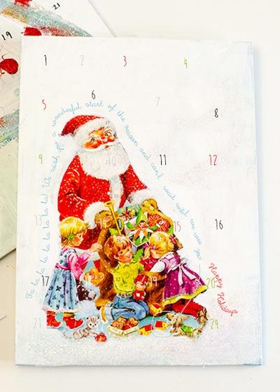 personalized advent calendar tutorial