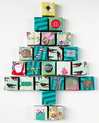 origami box advent calendar