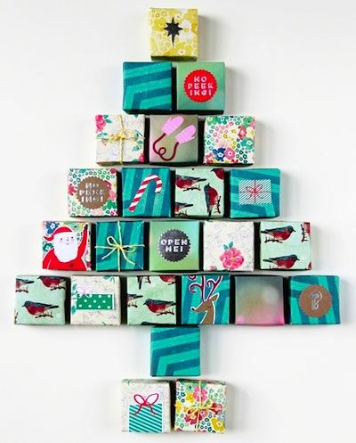 origami box advent calendar
