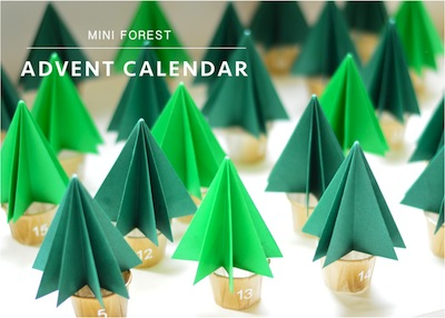 mini forest Christmas advent calendar