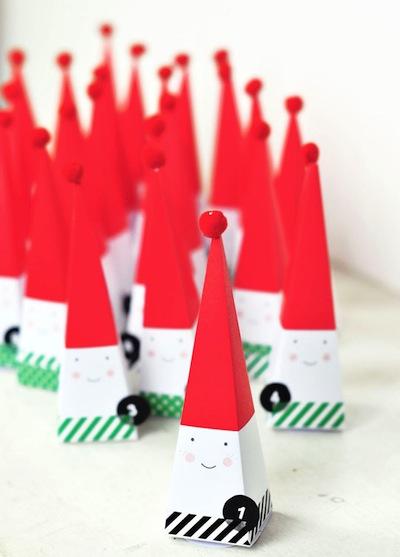 free printable Santa advent calendar