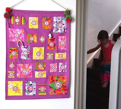 advent calendar wall hanging