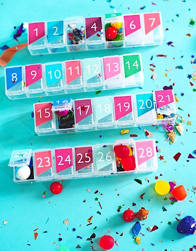 pill box advent calendar DIY
