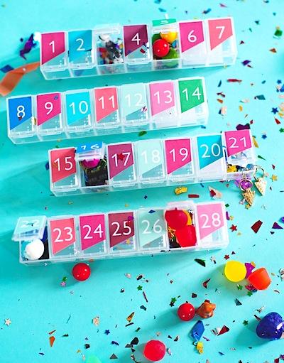pill box advent calendar DIY