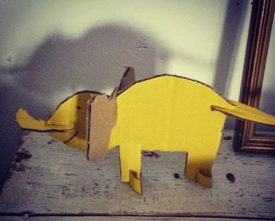 slot cardboard elephant