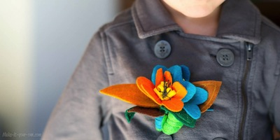 felt floral pin for fall