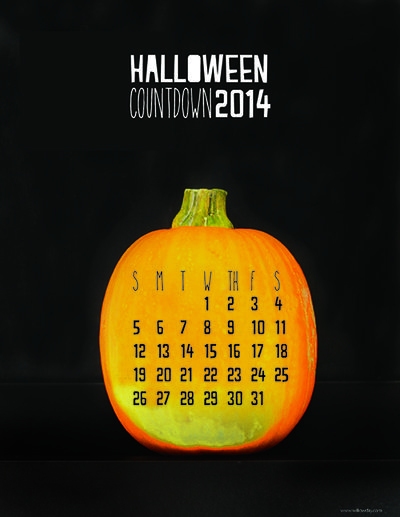 2014 free printable Halloween countdown calendar