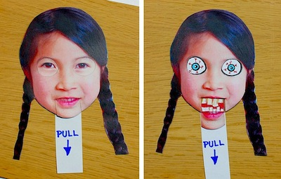 creepy face changer Halloween craft