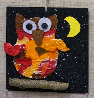 That Artist Woman autumn textured owls