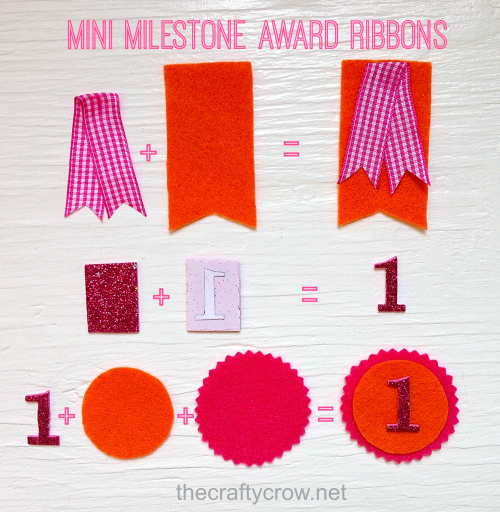 The Crafty Crow mini milestone award DIY assembly 1