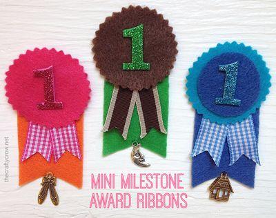 The Crafty Crow mini milestone award DIY variations 1