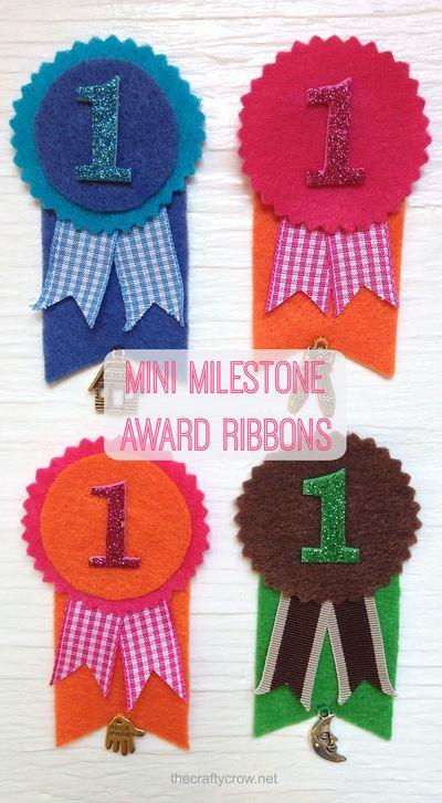 The Crafty Crow mini milestone award DIY variations 2