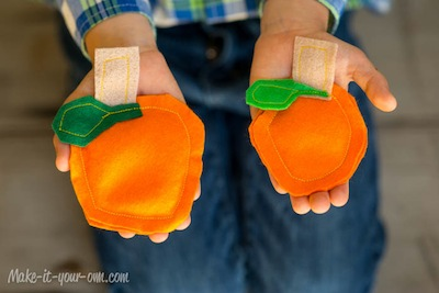 pumpkin bean bags craft