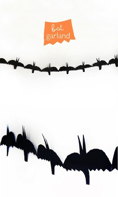 paper bat garland Halloween craft