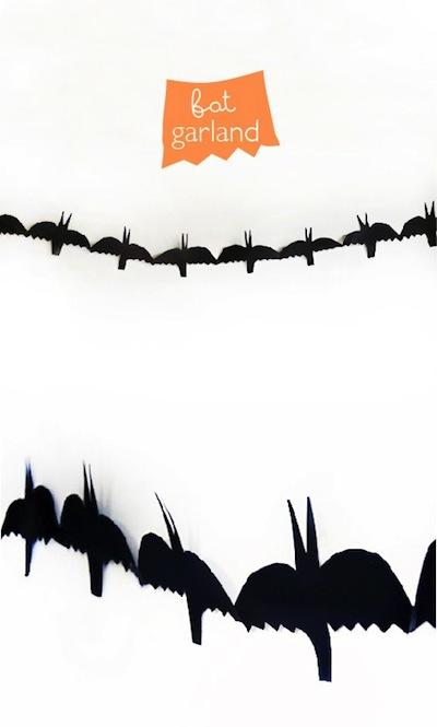 paper bat garland Halloween craft