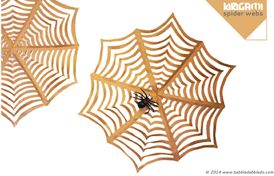 giant kirigami spider web